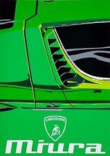 Classic Lamborghini Miura Super Car Pop Art Limited Edition Signed Art Prints