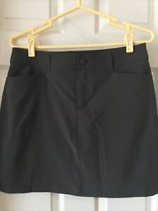 Eddie Bauer Adventurer Skort Sz 4 Gray UPF50 Pockets Shorts Stretch Water Resist