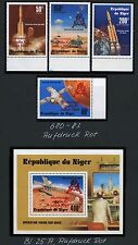 Space Raumfahrt 1979 Niger Apollo 680-683 + Block 25 Red Gold Overprint MNH/1215