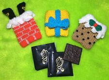 KNITTING PATTERN - Christmas Mint Covers -After Eight- Pudding, Present, Chimney