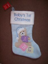BABIES BLUE CHRISTMAS STOCKING