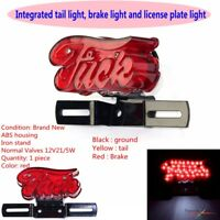 F** YOU E-marked Motorcycle Taillight w/License Plate Lamp For Harley Choppers