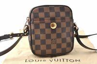 Authentic Louis Vuitton Damier Rift Shoulder Bag N60009 LV A8491