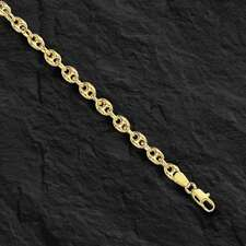 4.7mm 14k Yellow Gold Puffed Mariner Link Bracelet 6