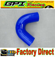 """135 Degree Bend Elbow Silicone Coupler Hose 2"""" 51mm Intake Turbo Pipe BLUE"""