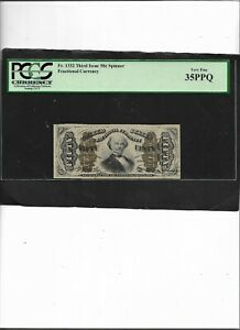 Fractional Currency Fr. 1332 Third Issue 50c  Spinner Very Fine 35PPQ
