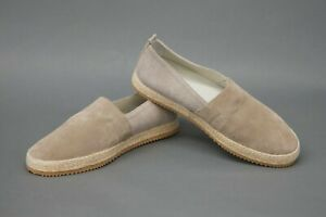 NWOB Brunello Cucinelli Men Leather Suede + Canvas Espadrille Loafer 41/8US A211