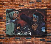 New MF Doom Daniel Dumile Super Villain Hip Hop T-750 Silk Fabric Poster
