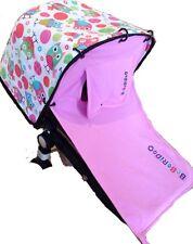 Pink Sun shade+cover - universal fit, Pram Curtain capsule, rocker UPF50+