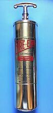 Rare Vintage 1 Qt. Brass FIRE-END Fire Extinguisher