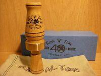 40th RNT Rich-N-Tone Short Barrel Bois D'Arc Mallard Duck Call Hedge Wood