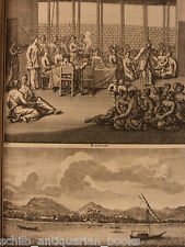 1725 de Bruyn Voyages CHINA Southeast Asia MAPS Ceylon, Sri Lanka, Indonesia +
