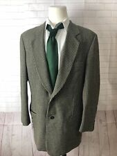 Giorgio Armani Men's Beige Blazer Plaid Wool Blazer 46L $438