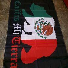 Califas Mi Tierra Chicano Mexicano Flag