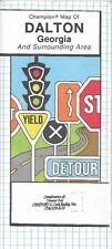 1991 CHAMPION Road Map DALTON RINGGOLD COHUTTA VARNELL Georgia Chattahoochee NF