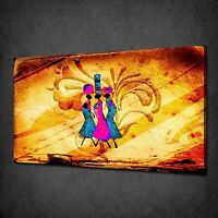 ABSTRACT AFRICAN WOMAN SUNSET MODERN CANVAS PRINT MANY SIZES FREE UK P/&P AF031