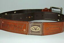 NCAA Auburn Tigers Croc Leather Webbing Concho Belt