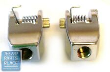 64-76 GM Cars Convertible Top Latch Chrome Knuckles W/ Spring And Roll Pin Pair