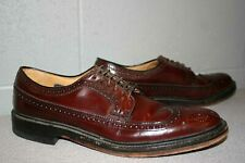 12 AA Hanover LB Sheppard Signature Wingtip Shoes Oxblood Leather 2313 14963125