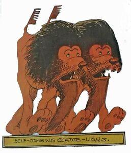 1933-4 Boob McNutt's Ark - SELF-COMBING GOATEE-LIONS