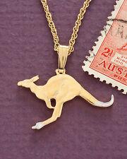 "Kangaroo Pendant & Necklace Australian Coin Cut,  1"" Diameter ( # 7 )"