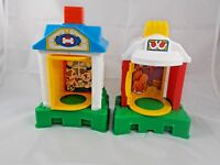 Fisher Price Little People Pop n Surprise Train Replacement Barn & Pet Hospital