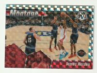 2019-20 Panini Mosaic Prizm SILVER James Harden Montage HOBBY Rockets #25