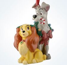 disney parks christmas lady and the tramp glitter ornament new with tag
