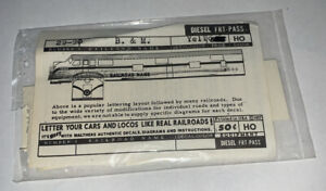 WALTHERS HO SCALE DECAL-BOSTON & MAINE/ B&M EMD FT CAB DIESEL  #934-29-90