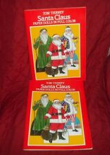 2 Tom Tierney Vintage Santa Claus & Religious Paper Dolls in Full Color New