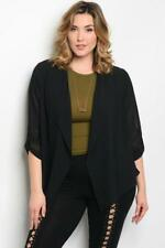 NEW..Stunning Plus Size Black Jacket Cardi Cover Up Kimino..Sz16-18/1XL