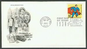 #3185f 32c Superman, Art Craft FDC **ANY 4=FREE SHIPPING**