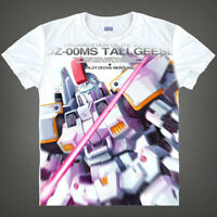 Anime Gundam Wing Tallgeese Unisex T-shirt Short Sleeve Cosplay White Tee#DR459