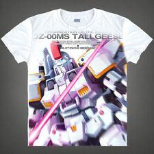 Anime Gundam Wing Tallgeese Unisex T-shirt Short Sleeve Cosplay White Tee#DR459