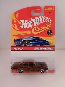 Hot Wheels Classics Series 2 Brown Ford Thunderbolt in BP #10 of 30