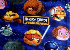 LICENSED ANGRY BIRDS 2009-2013 ANTI PILL FLEECE BLANKET MATERIAL 2 YDS 60x72
