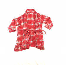 Kate Spade NY Bathrobe Lightweight Lounge Wrap Belted Red Plaid Womens XS Small