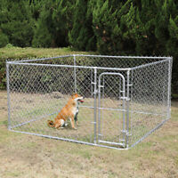 7.5ft Outdoor Large Dog Kennel Cage Heavy Duty Dog Fences Pet Pen Run House