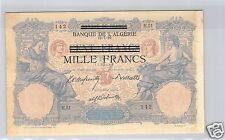 TUNISIE BANQUE DE L'ALGERIE 100 FRANCS TYPE 1892 ALPHABET H.51 PICK 31 QUALITE