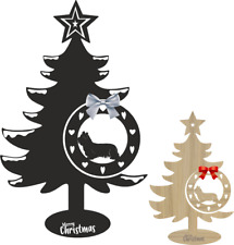 More details for skye terrier christmas tree and bauble xmas dog table decoration