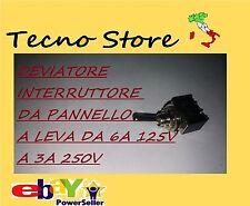 DEVIATORE INTERRUTTORE DA PANNELLO A LEVA 6A 125V 3 PUNTI 2 VIE LEVETTA ON-OFF