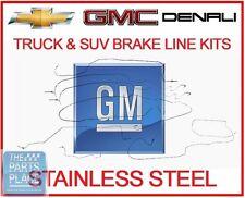 03-4 Sierra Silverado Complete Premium Stainless OEM Brake Line Kit 9 PCS - 115