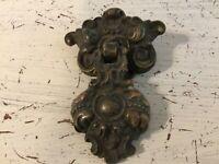 Vintage Bronze Furniture Drawer Drop Pull 2 Piece Ornate Victorian K527 K528