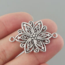 "Connector 10 Bronzed FLORAL STAR // SNOWFLAKE FILIGREES 1-1//4/"" 35mm #46660"