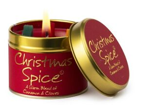 Lily-Flame Christmas Spice Scented Candle Free P&P