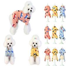 Pet Dog Cat CWarm Cotton Pajamas Clothes Puppy Winter Apparel Coat Jumpsuit Soft