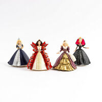 Lot of 4 Hallmark Holiday Barbie Dolls 1996 1997 1998 1999 Christmas Ornaments