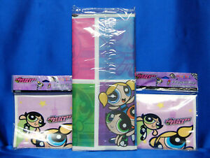 PowerPuff Girls Tablecover 16 Power Puff Loot Bags Vintage NEW Next Day Ship