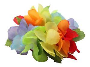 Hawaiian Lei Party Luau Wristband hand Flower Royal Floral Multiple pack Rainbow