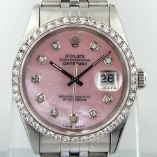 ROLEX DATEJUST STEEL JUBILEE DIAMOND BEZEL PINK MOTHER OF PEARL DIAMOND DIAL
